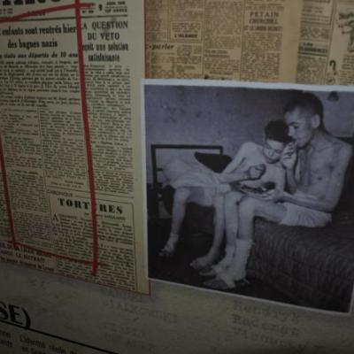 Exposition Lutétia 1945 , le retour des déportés à Montendre
